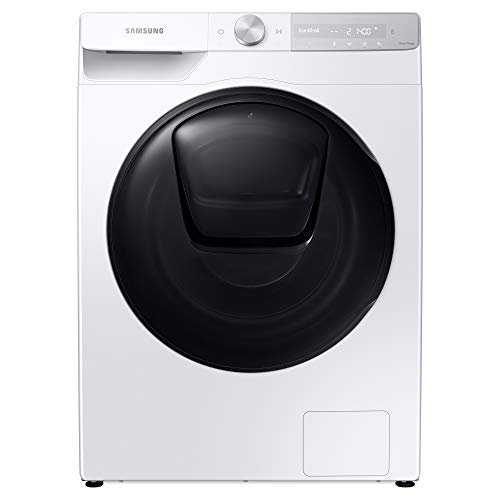 Samsung WW90T854DBH/S1 Freestanding Washing Machine with QuickDrive™ and ecobubble™, 9kg Load, 1400rpm Spin, White