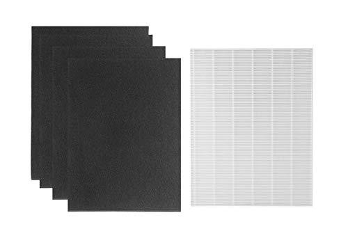 HEPA Filter Replacements for Winix 115115 Size 21, Fit WAC 5300, WAC 5500, WAC 6300, 5000, 5000b, 5300, 5500, 6300 9000 True HEPA Plus 4 Carbon