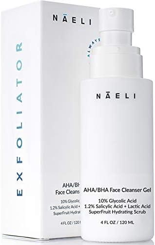 AHA BHA Exfoliating Face Wash 10 Glycolic Acid with Salicylic Acid SuperFruit Antioxidants Peptides product image