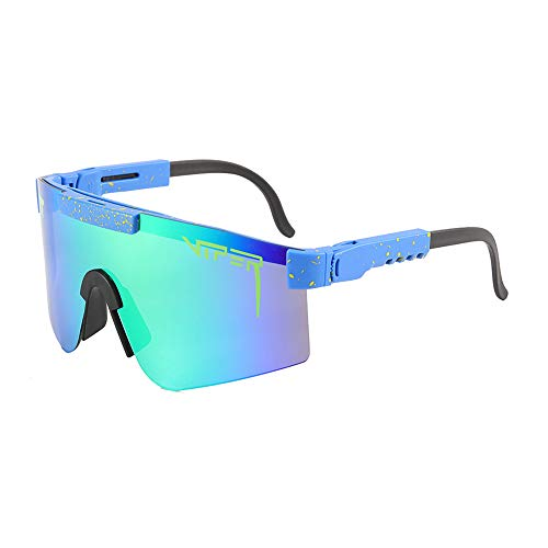 Viper Sunglasses for Men & Women, Pit UV Eye Protection Polarized Glasses for Outdoor Sports Golf Fishing Cycling Run(C12)