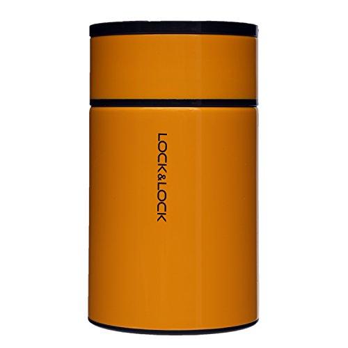 LOCK & LOCK Thermobehälter für Essen & Suppe - PORTABLE FOOD JAR - Isolierbehälter Edelstahl für Speisen - Thermo Speisebehälter - 750ml in Orange