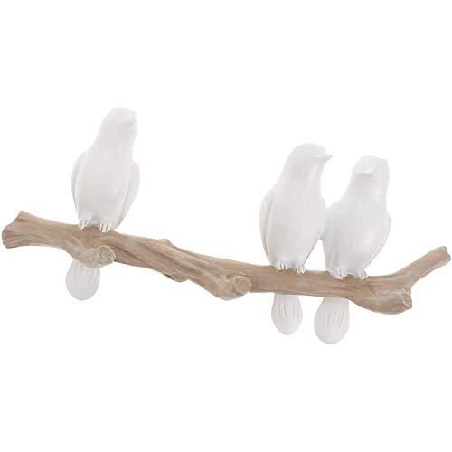 YUDIZWS Forma de pájaro Montaje en la Pared Hanger Hoja de Perchero Hogar Decoración Hogar Sombrero Ropa Bolsa Bufanda Teclas Organizador Almacenamiento Perchas,3