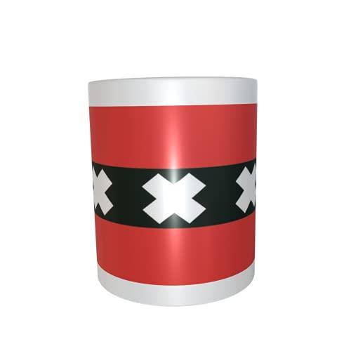 U24 Tasse Kaffeebecher Mug Cup Flagge Amsterdam