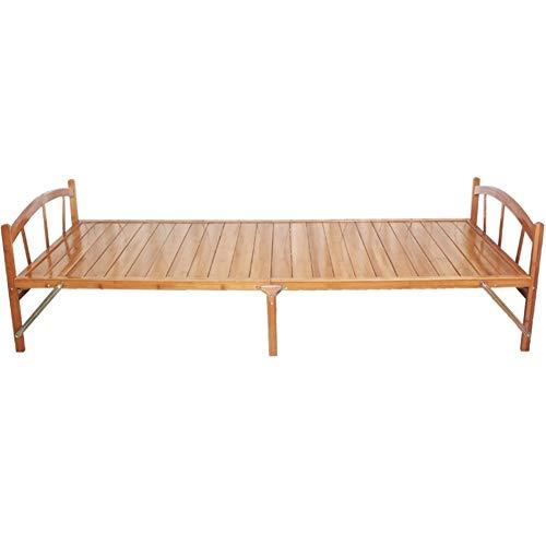 L.W.S Muebles de Dormitorio Cama 0.8x1.9cm Cama Plegable Moderna Muebles de bambú Interior única Cama Plegable única para Invitados Casa de Dormitorio Cama Plataforma Plegable