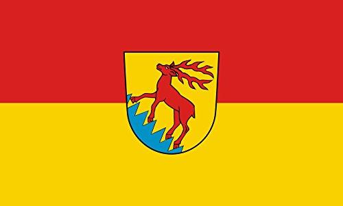 Unbekannt magFlags Tisch-Fahne/Tisch-Flagge: Eichstegen 15x25cm inkl. Tisch-Ständer