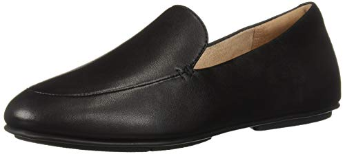 FitFlop Women's Lena Loafers Flat, All Black, 9 M US