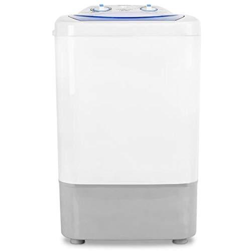 Oneconcept SG002 - Lavatrice da Campeggio, Mini Lavatrice, 2.8 kg di Bucato, Leggera, Silenziosa, Risparmio Acqua ed Energetico, Potenza Lavaggio 250W, Colore Bianco/Blu