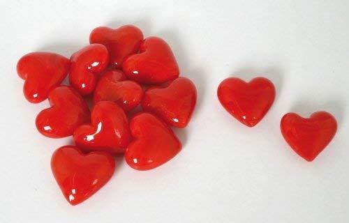 BARTL Glas-Herzen rot, 12-tlg.