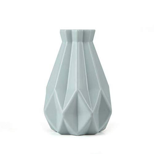 JSJJATQ Jarrones Disposición decoración del florero de cerámica de imitación del Estilo florero Creativa Origami jarrón de Ministerio del Interior del florero Florero (Color : Blue)