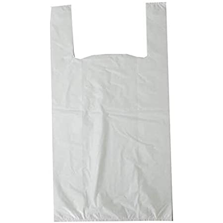VEST CARRIER BAGS BLUE WHITE RED CANDY STRIPE SUPERMARKET SHOP TAKEAWAY