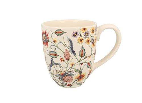 Duo Jumbotasse Becher XXL folkloristische Deko 810 ml Keramik Trinkbecher Smoothie Becher Geschenk Büro Tasse für Kaffee Teetasse Cappuccino Kaffeebecher Jumbo-Tasse Riesentasse XXXL (Wild Flowers)