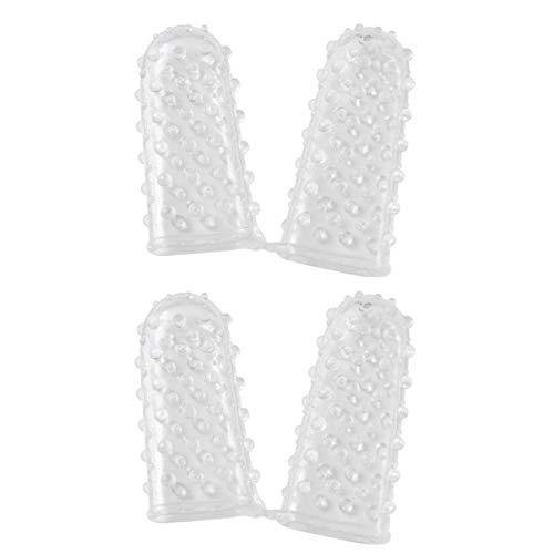 SUPVOX 4 Piezas G Punto Mangas de Silicona Dedos Cubierta de Dedos Masaje Sexual Juego Erótico Juguetes Adultos Mujeres Hombres