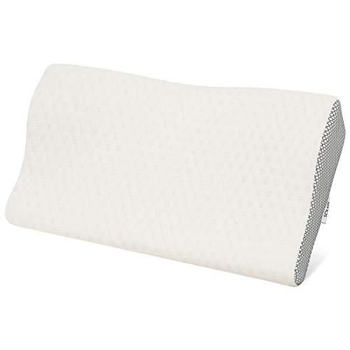 Cuscino Cervicale Traspirante Cuscino Memory Foam, Altezza Regolabile, Cotone Rimbalzante Cronico per Alleviare la Pressione e Il Dolore al Collo, Migliorare la qualità del Sonno, con Federa