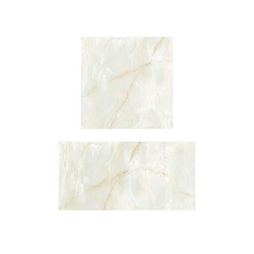 Instalar Adulto Pegatinas de azulejo de mármol Etiquetas engomadas impermeables para el suelo para la sala de estar y el dormitorio Pegatinas de parquet PVC Pegatinas de pared Instalación Interior