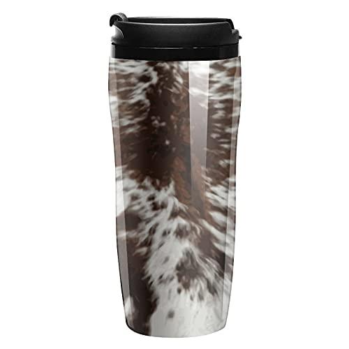 Botella de agua de vaca viaje tazas de café tazas con tapa