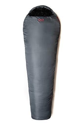 Snugpak | Travelpak 4 | Sac de couchage extérieur | Moustiquaire intégrée | antibactérien (gris galet, fermeture éclair latérale gauche)