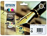 Best Price Square Ink CARTRIDGES, 4 Ink Pack, T1636, 16 XL C13T16364010 by EPSON