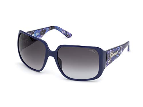 Guess gafas de sol GU7682 90B gafas de sol de las Mujeres lente Azul de humo de tamaño de 62 mm
