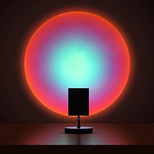 AUQI Proyector de luz de noche lámpara de puesta de sol, luz romántica de rotación de 180 grados, cálido para el hogar, fiesta, dormitorio, sala de estar decoración (romántico)