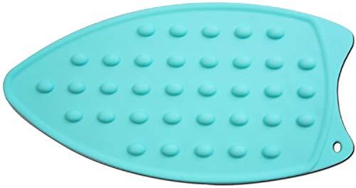 Tappetino poggiaferro da Stiro in Silicone, Anti Scivolo Resistente al Calore Piastra Stirante in Silicone Stuoia Vassoio Piatto Pot Stand Blu