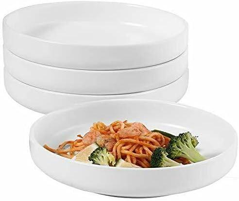 Pasta Bowls Set of 4 Salad Porc Serving Shallow favorite Mail order cheap Bowl