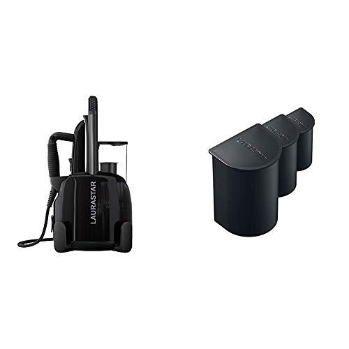 Laurastar Lift Plus Ultimate Black Dampfbügelstation & Kalkschutzkartuschen zur Wasserfilterung 3-er Set