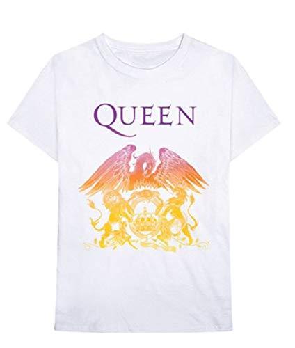 Men's Licensed White Gradient Crest T-shirt, S to XXL