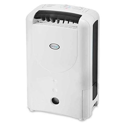EcoAir | DD1 Simple Black | Rotary Control | 7 Litre/Day | Quiet 34dBA | Anti Bacteria Silver Filter | Laundry Mode | Light Weight 6Kg | 2YR Warranty | Desiccant Dehumidifier