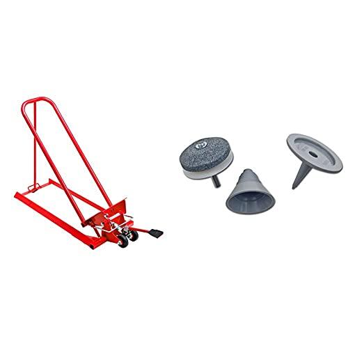Oregon Clip Lift Hebevorrichtung Kippvorrichtung hydraulisch für Rasentraktoren & Arnold Schärf-und Auswuchtkit für Rasenmähermesser 6011-X1-0195