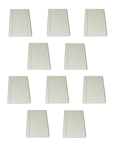 ZVac Central Vacuum Wall Plate 10pk White Low Voltage Brand Inlets Generic Replacement Compatible with Most Newer Central Vacuum Systems (10, Inlet Almond Low Voltage)