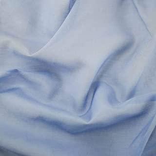 Matte Blue Silk Batiste, Fabric by The Yard