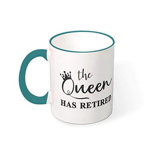 Wingard Leviosar Taza de café The Queen Has Retired de cerámica de primera clase retro moderna – Taza de agua para el hogar 330 ml