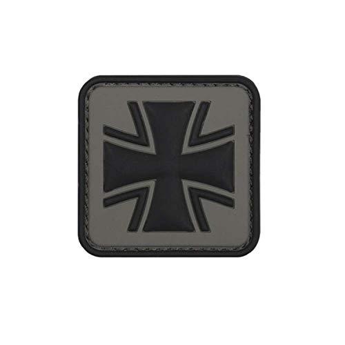 Copytec Grau Balkenkreuz Patch 3D Rubber Bundeswehr Abzeichen Aufnäher Emblem Einheit Uniform Tactical Klett 5cm #23047