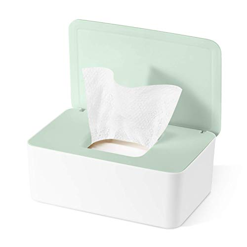 Feuchttücher-Box,Baby Feuchttücherbox,Baby Tücher Fall,Toilettenpapier Box,Tissue Aufbewahrungskoffer,Taschentuchhalter,Kunststoff Feuchttücher Spender,Tücherbox,Serviettenbox (Z-J)