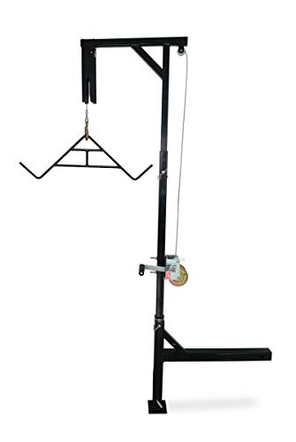 HME Products Truck Hitch Game Hoist - Complete Kit (Includes Winch/Gambrel) Black, 400