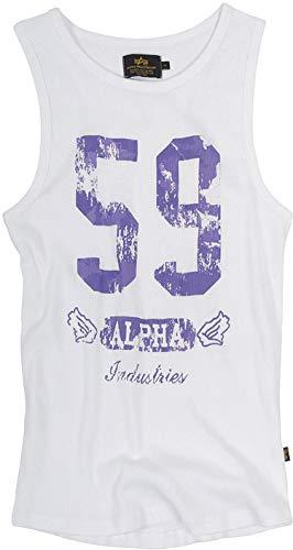 Alpha Original Industries Big 59Tank Camiseta Blanco–Estados Unidos–HIGH QUALITY Print–Nuevo–Primavera verano blanco extra-large