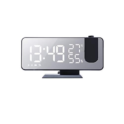 RongWang Radio FM LED Reloj Despertador Digital Inteligente Mesa De Reloj Relojes Electrónicos De Escritorio Reloj Despertador USB con Tiempo De Proyección Snooze (Color : A3)