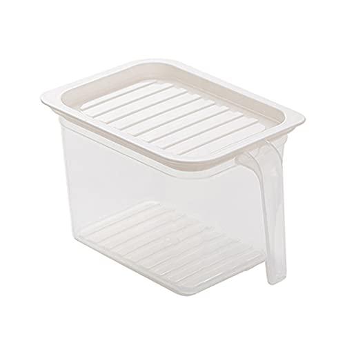 JklausTap Frigorífico caja de conservación de la cocina con la manija plástico con la tapa sellada alimentos fruta caja de almacenamiento tarro de almacenamiento