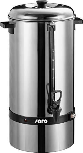 Saro Gastro Kaffeemaschine mit Rundfilter Modell Saromica 6015 Industriekaffeemaschine (15 Liter, ca. 100 Tassen Kaffee, Brüh-& Warmhaltefunktion), Silber