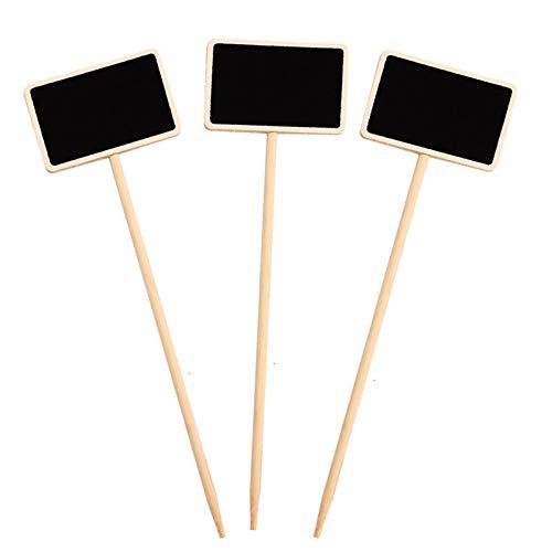 50 pcs en bois Chalkboard Blackboard Succulent Plant Flower Label Marker épais Étiquette de numéro Marquer for jardin Décoration ornements, une variété d'utilisations Essayez de décorer par votre