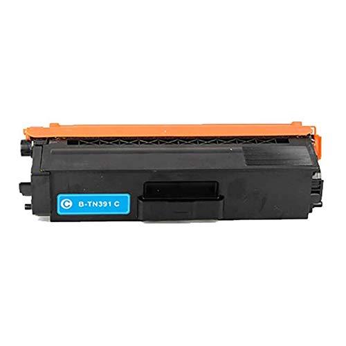 Compatible con el hermano TN391BK TN391C TN391M TN391Y Caja de tóner para su hermano L8250CDN / L8350CDW / L8400CDN / L8600CDW / L8850CDW Impresora de color blue