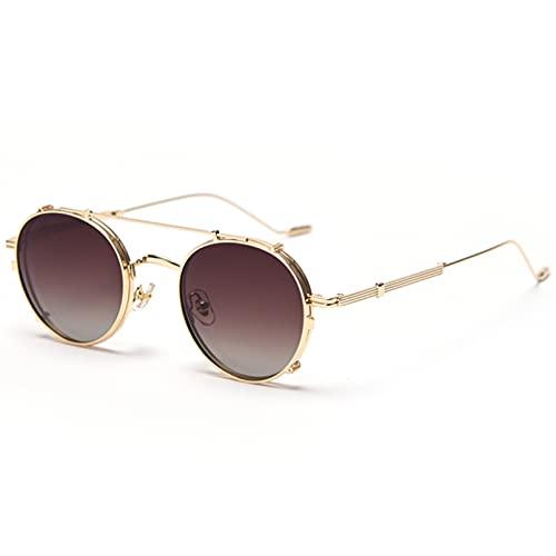 LUOXUEFEI Gafas De Sol Gafas De Sol Accesorios Para Gafas Mujer Gris Marrón Lente Extraíble