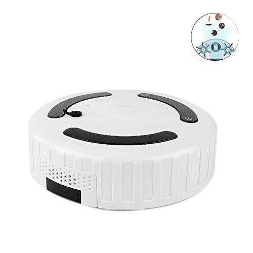 LTLJX Aspiradora Robot y fregona Ultra Fuerte succión del Aspirador robótico con la función de humidificación Súper Tranquilo, Ideal for Mascotas Duros Pelo Fino Pisos Carpet LUDEQUAN