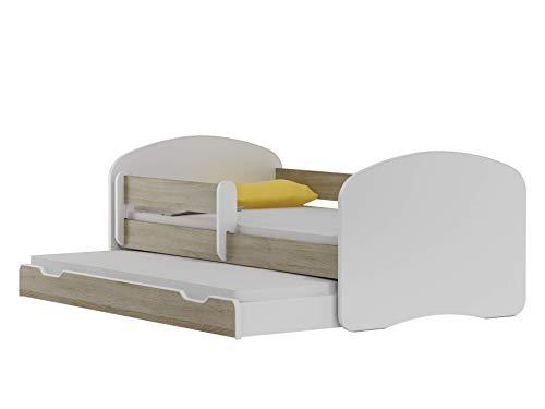 BDW NEU Kinderbett mit 2 Liegeflächen und 2 Matratzen DOPELLBETT 200x90 Eiche Sonoma - für Mädchen und Jungen JUGENDBETT || KOSTELNOS Versand ||