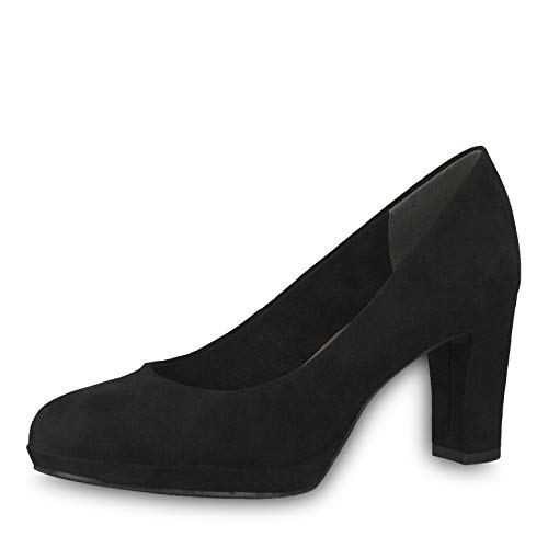 Tamaris Damen KlassischePumps 22420-21, Frauen Court-Shoes,Absatzschuhe,Abendschuhe,Stöckelschuhe,Touch-IT,Black,37 EU / 4 UK