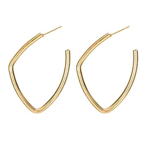 UINGKID Damen Ohrringe Mode Ohrstecker Vintage Frauen Einfache Ring Metall Pailletten Unregelmäßigen Großen Kreis Legierung Schmuck