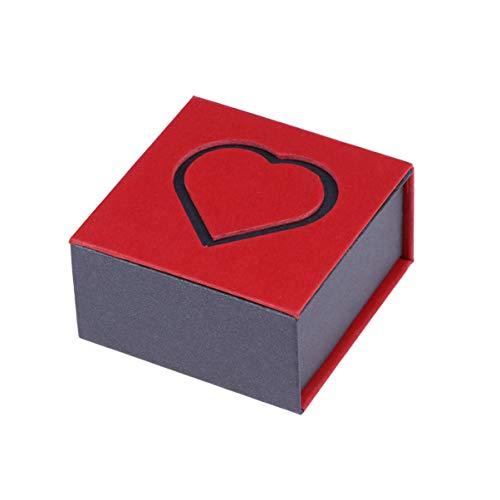 Happyyami Herz Papier Schmuckschatulle Pappe Pappschachtel Schmuck Ringe Schachteln für Jubiläen Hochzeiten Brautduschen Babypartys Geburtstag