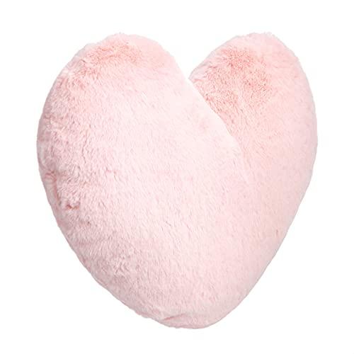 Amazon Basics - Cojín decorativo, corazón rosa, 45 x 41cm