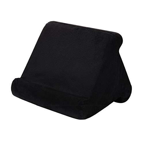 HUGEE Pad Pillow Stand - Supporto per Tablet,Torre per Cuscini Morbidi Multi-Angolo Portatile,Smart Phone Lettori di Libri Digitali Libri e Riviste Riposo Cuscino di Supporto (Nero)