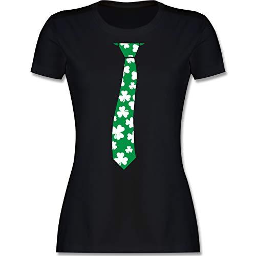 St. Patricks Day - St. Patrick's Day Krawatte - S - Schwarz - Krawatte - L191 - Tailliertes Tshirt für Damen und Frauen T-Shirt
